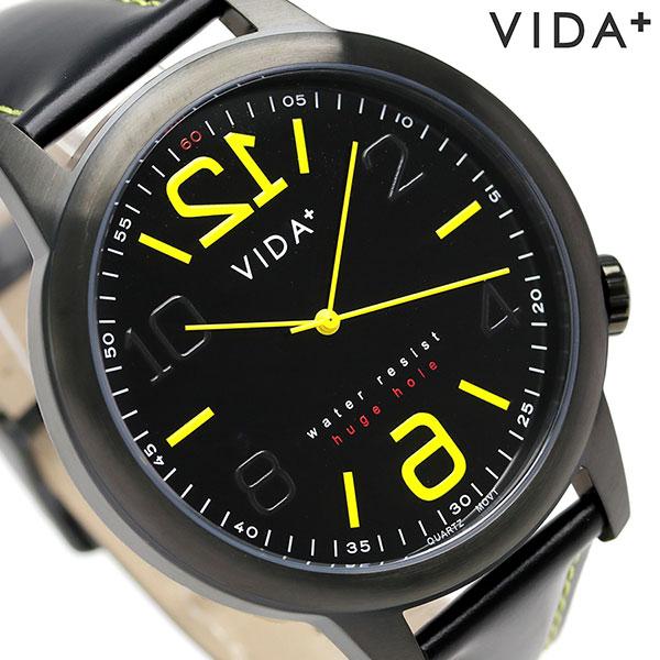 ヴィーダ プラス VIDA+ ヒュージ ホール 48mm メンズ 腕時計 45914 BK-BK オールブラック 時計