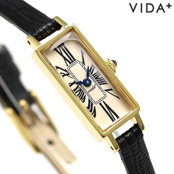 店内ポイント最大43倍!16日1時59分まで! ヴィーダ プラス VIDA+ ミニョン 12mm レディース 腕時計 83921 LE-BK クリーム 時計