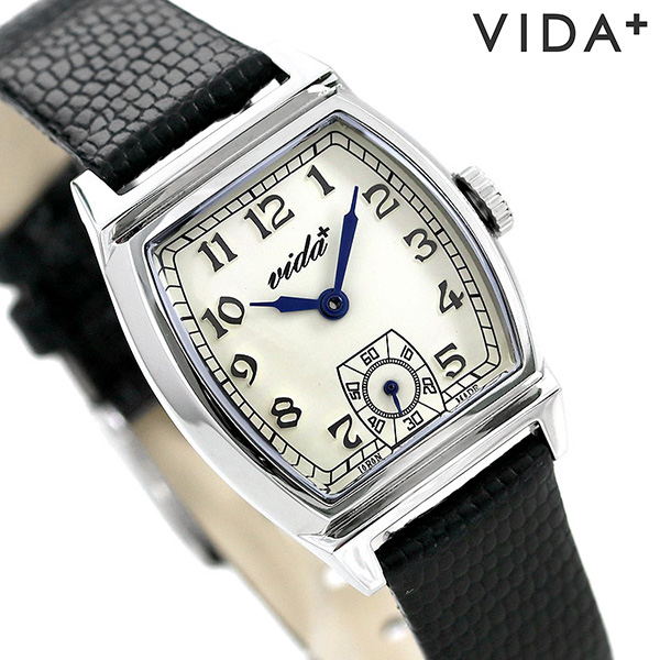 ヴィーダプラス インヘリット 25mm レディース 腕時計 J84965S LE-BK VIDA+ クリーム×ブラック