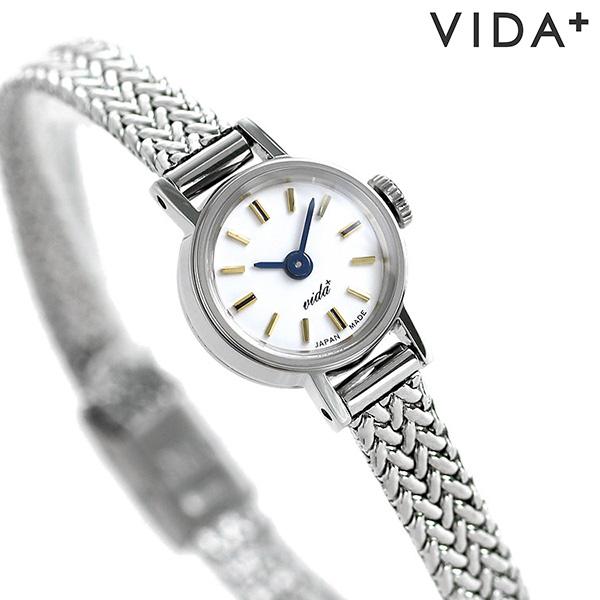ヴィーダプラス VIDA+ スラント ダイヤモンド 日本製 レディース 腕時計 J84972S ホワイト 時計【あす楽対応】