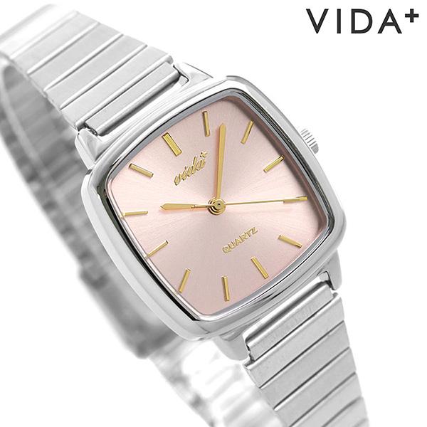ヴィーダプラス VIDA+ 時計 ラディアル 日本製 レディース 腕時計 J86013 SLV GLD グリーン×ゴールド【あす楽対応】