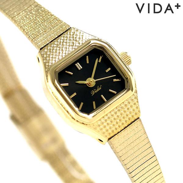 ヴィーダ プラス VIDA+ V ジャパンメイド 16mm レディース V-002-B 腕時計 ブラック 時計