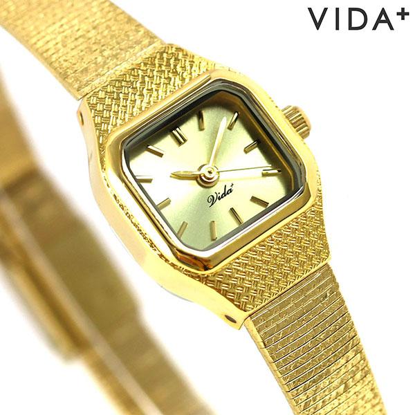 ヴィーダ プラス VIDA+ V ジャパンメイド 16mm レディース V-002-C 腕時計 ゴールド 時計