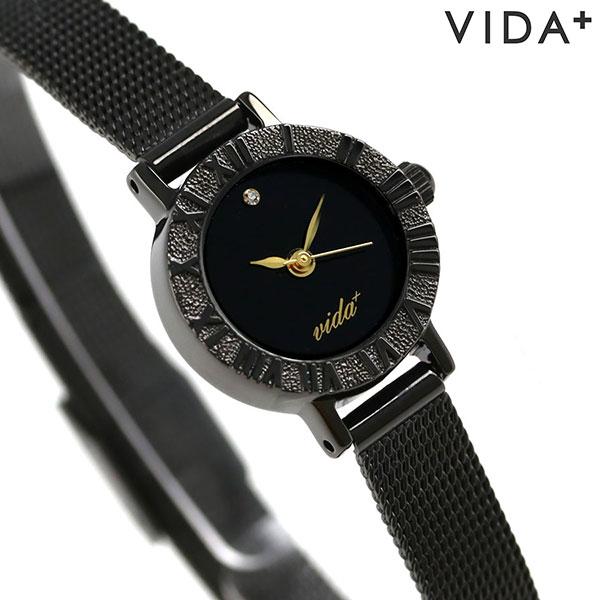 ヴィーダ プラス VIDA+ V ジャパンメイド 19mm レディース V-005 BK-BK 腕時計 オールブラック 時計