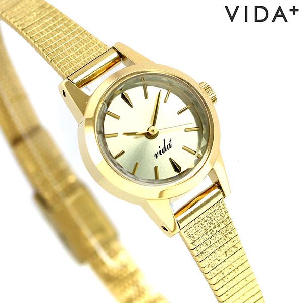 ヴィーダ プラス VIDA+ V ジャパンメイド 19mm レディース V-006G 腕時計 ゴールド 時計