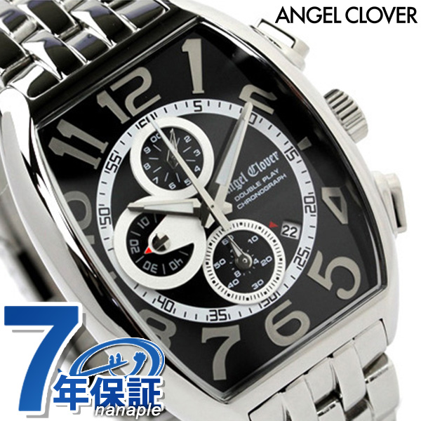 エンジェルクローバー ダブルプレイ クロノグラフ 腕時計 ブラック Angel Clover DP38SBK 時計