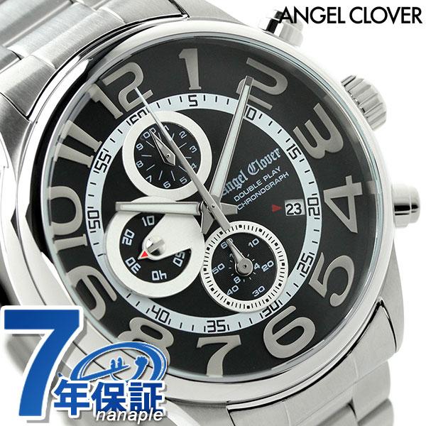 エンジェルクローバー ダブル プレイ クロノグラフ DP44SBK Angel Clover 腕時計 時計【あす楽対応】