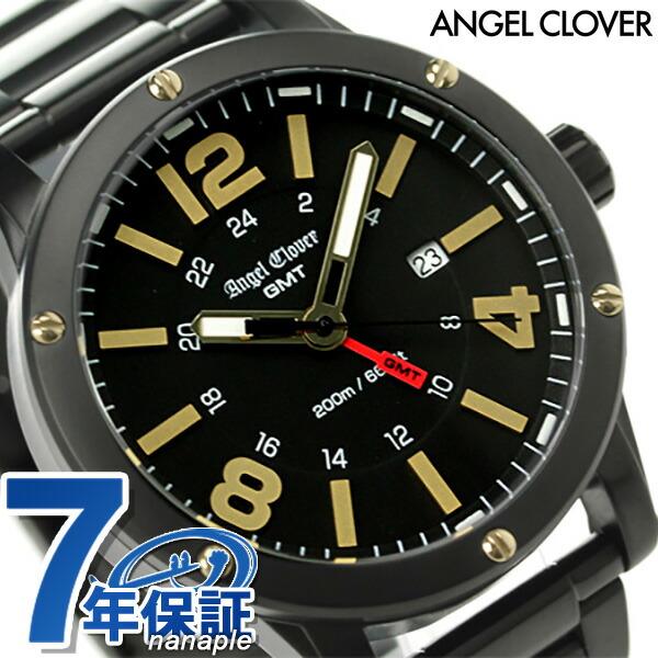 エンジェルクローバー エクスベンチャー GMT メンズ 腕時計 EVG46BBK Angel Clover クオーツ オールブラック 時計