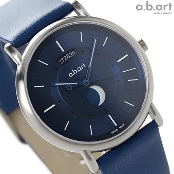 エービーアート KLDシリーズ ムーンフェイズ KLD203 a.b.art メンズ 腕時計 クオーツ ブルー 時計