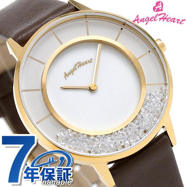 エンジェルハート ラブグリッター 限定モデル レディース LG36Y-BR AngelHeart 腕時計 ホワイト×ブラウン 時計