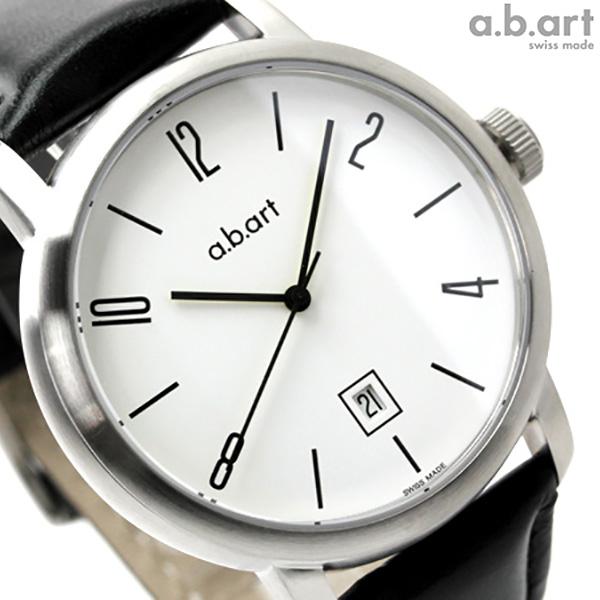 エービーアート 腕時計 オートマティック&ベーシック 自動巻き ホワイト×ブラックカーフ a.b.art MA101 時計