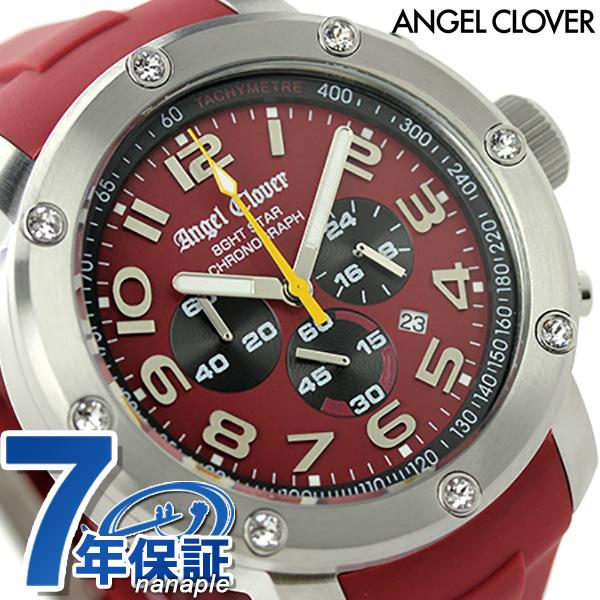 エンジェルクローバー レッドコレクションズ クロノグラフ NES46SRE-RE Angel Clover メンズ 腕時計 エイトスター レッド 時計【あす楽対応】