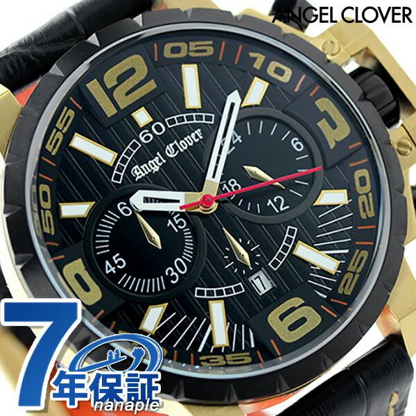 エンジェルクローバー タイムクラフト クロノグラフ メンズ NTC48YBK-BK Angel Clover 腕時計 クオーツ ブラック 時計