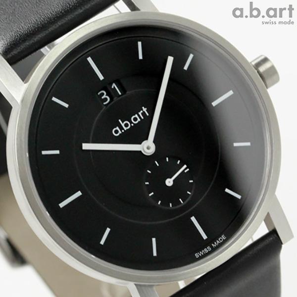 エービーアート 腕時計 Oシリーズ メンズ スモールセコンド ブラック レザーベルト a.b.art O602 時計