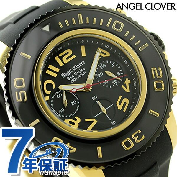 エンジェルクローバー シークルーズ クロノグラフ メンズ SC47YBK-BK Angel Clover 腕時計 ブラック 時計