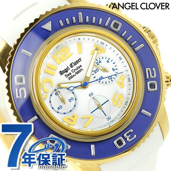 エンジェルクローバー シークルーズ クロノグラフ SC47YBU-WH Angel Clover 腕時計 ホワイト 時計【あす楽対応】