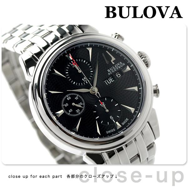 burobaakyutoronjieminivarujukuronogurafu 63C106 BULOVA人手表自动卷黑色