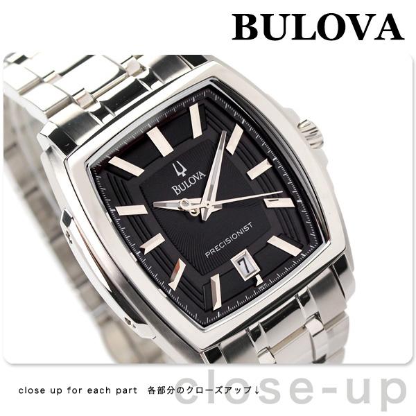 ブローバプレシジョニストロングウッドメンズ watch 96B144 BULOVA black