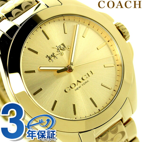 教練三羥甲基氨基甲烷十石英女士手錶14502178 COACH黄金×黄金