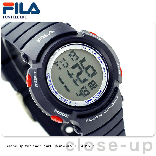 Fila計時儀警報小孩手錶38-212-003 FILA深藍