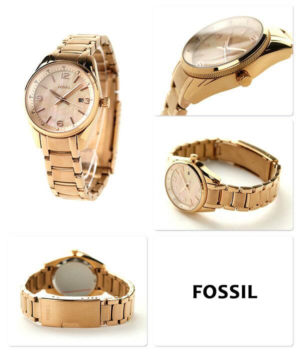フォッシルジャンヌクオーツレディース watch BQ1077 FOSSIL Rose gold
