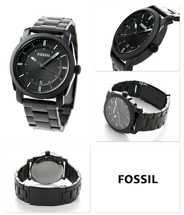 FOSSIL FS4775 Machine Black Dial Black Stainless Steel ...