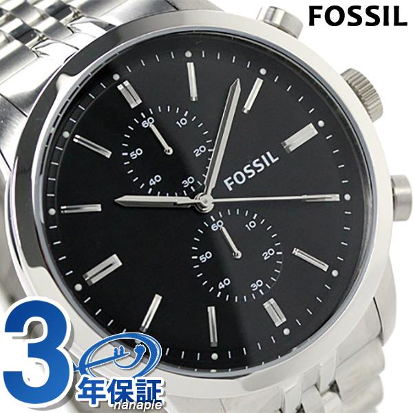 fosshirutaunzumankuronogurafumenzu FS4784石英FOSSIL手表黑色