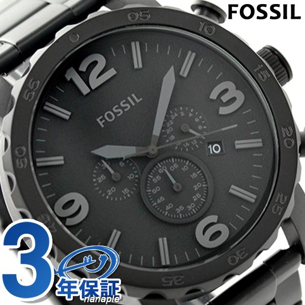 フォッシル ネイト クロノグラフ メンズ 腕時計 JR1401 FOSSIL クオーツ ブラック 時計【あす楽対応】