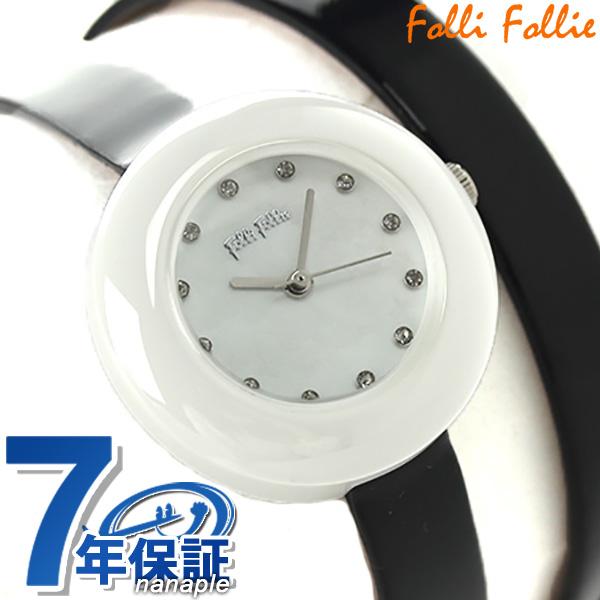 フォリフォリ ハート フォー ハート 二重巻き レディース WF13F030SSK-BK Folli Follie 腕時計 クオーツ マザーオブパール×ブラック 時計