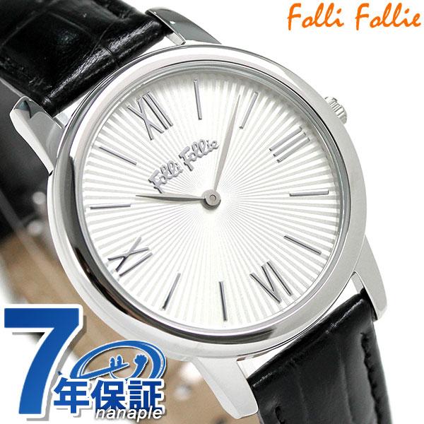 フォリフォリ マッチポイント レディース 腕時計 WF15T032SPW-BK Folli Follie ホワイト×ブラック 時計