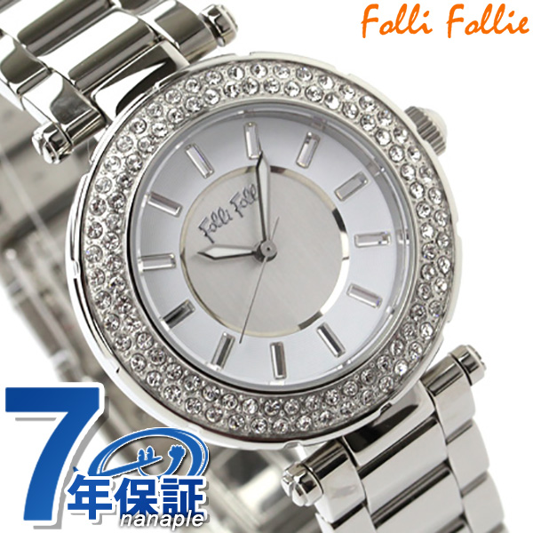 【10日はさらに+4倍で店内ポイント最大53倍】 フォリフォリ 腕時計 レディース ジルコニア シルバー Folli Follie WF1A019BSS 時計