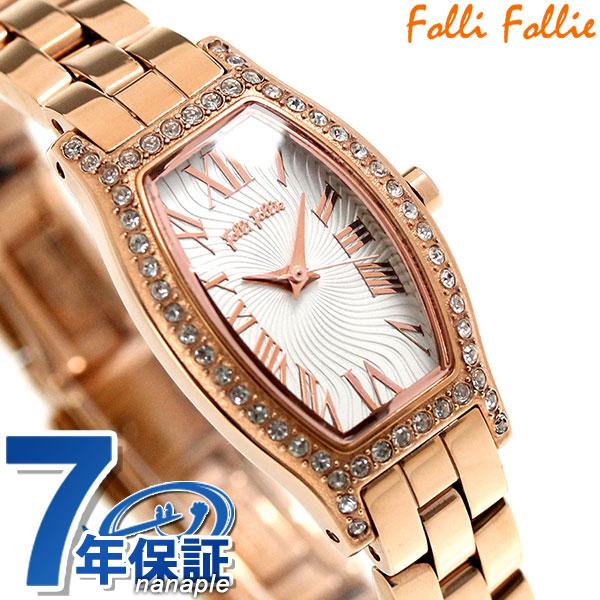 フォリフォリ デビュタント クオーツ レディース 腕時計 WF8B026BPZ Folli Follie ホワイト×ローズゴールド 時計