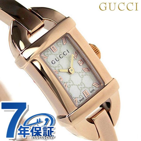 グッチ 時計 レディース GUCCI 腕時計 6800 ホワイトシェル × ピンクゴールド YA068584【あす楽対応】