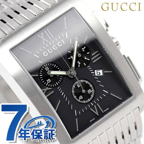 グッチ 時計 メンズ GUCCI 腕時計 Gメトロ クロノグラフ ブラック YA086309