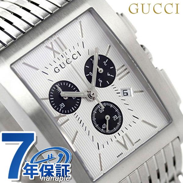 【今ならポイント最大28倍】 グッチ 時計 メンズ GUCCI 腕時計 Gメトロ クロノグラフ シルバー YA086319