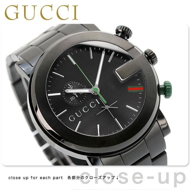b540db10844 nanaple  Gucci clock men GUCCI watch G-CHRONO G- Kurono oar black ...
