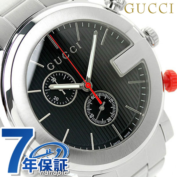 グッチ 時計 メンズ GUCCI 腕時計 クロノグラフ クオーツ YA101361 ブラック【あす楽対応】