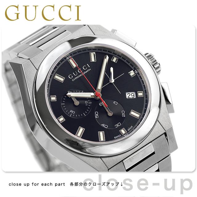 グッチ 時計 メンズ GUCCI 腕時計 パンテオン クロノグラフ クオーツ YA115235 ブラック【あす楽対応】