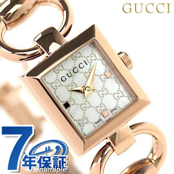 店内ポイント最大43倍!16日1時59分まで! グッチ 時計 レディース GUCCI 腕時計 トルナブォーニ ホワイトシェル × ピンクゴールド YA120519