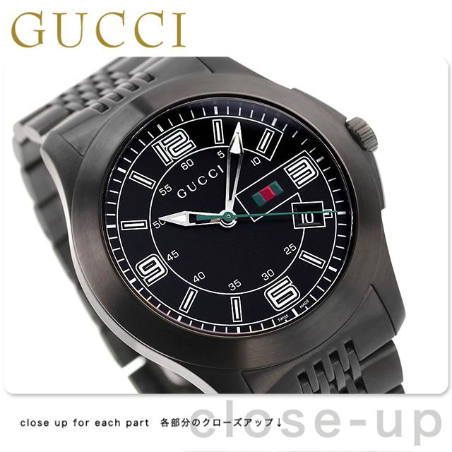 8efb0eced6a GUCCI 時計 46mm YA126269 グッチ  あす楽対応  オールブラック Gタイムレス 腕時計 メンズ