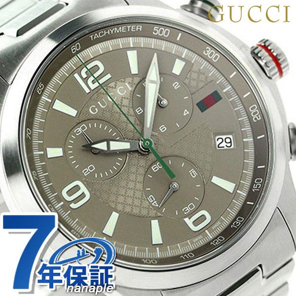 グッチ Gタイムレス XL クロノグラフ メンズ 腕時計 YA126248 GUCCI ブラウン【あす楽対応】