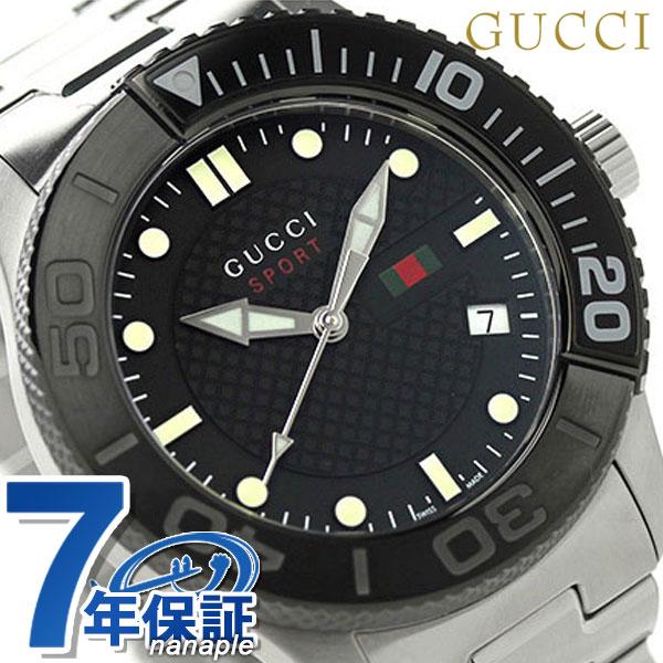 古馳G時間沒有的運動人手錶YA126249 GUCCI黑色