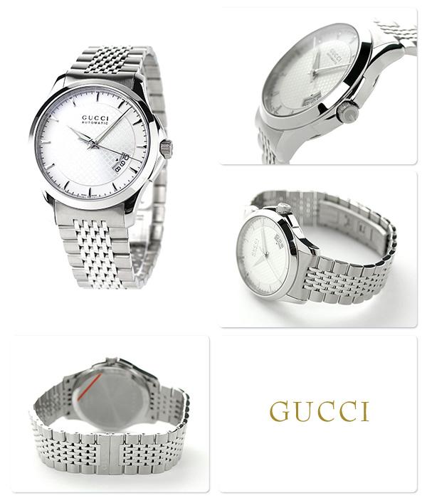 古驰G时间没有的人手表YA126417 GUCCI银子