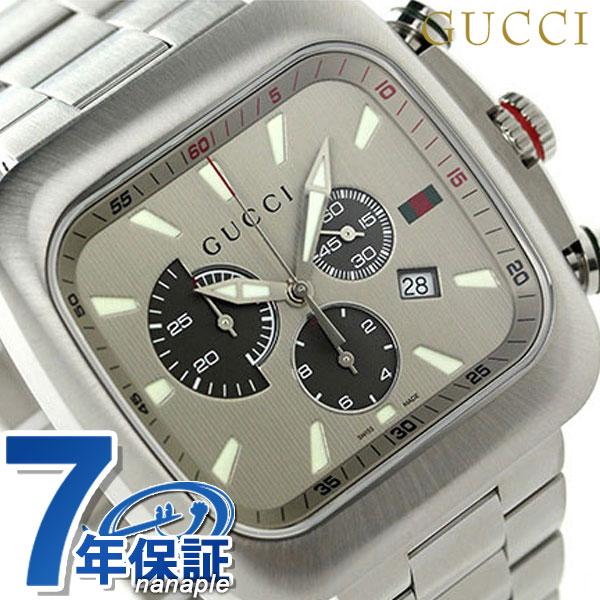 グッチ クーペ クロノグラフ メンズ 腕時計 YA131201 GUCCI グレーメタリック【あす楽対応】