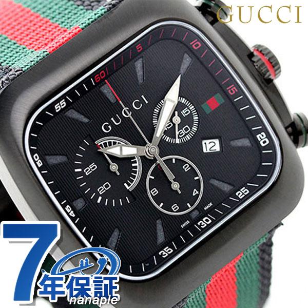 6b8308be507 Gucci coupe chronograph quartz men watch YA131202 GUCCI black X multicolored
