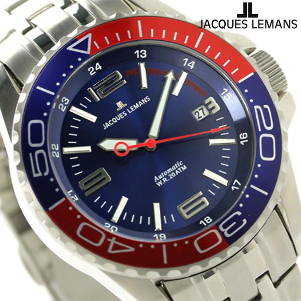ジャックルマン リバプール ダイバー 20気圧防水 自動巻き 1-1353F JACQUES LEMANS 腕時計 ブルー×レッド 時計