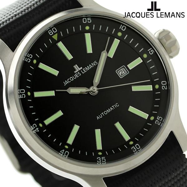 ジャックルマン ポルト 自動巻き メンズ 腕時計 1-1723D JACQUES LEMANS ブラック 時計