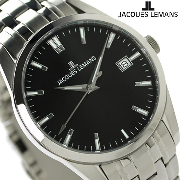 ジャックルマン リバプール メンズ 腕時計 1-1769H JACQUES LEMANS ブラック 時計