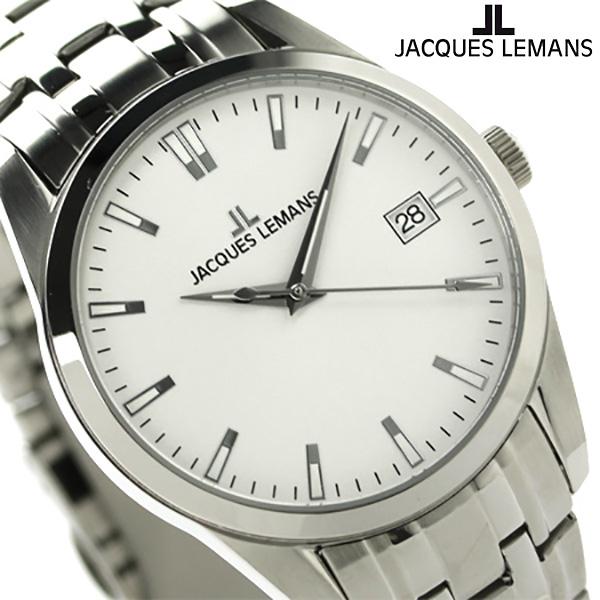 ジャックルマン リバプール メンズ 腕時計 1-1769I JACQUES LEMANS ホワイト 時計