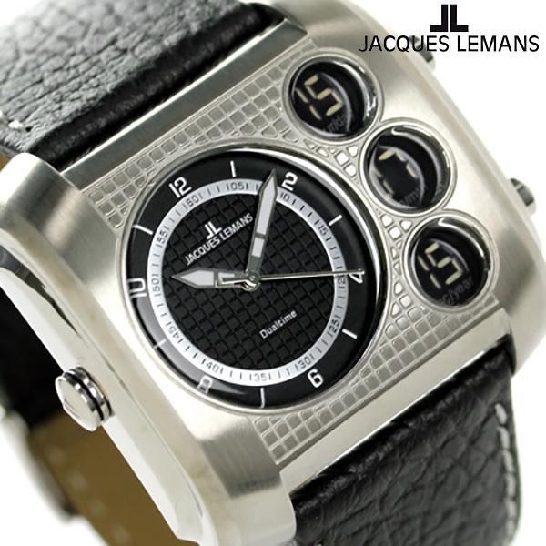 ジャックルマン マドリード GMT メンズ 腕時計 1-1780A JACQUES LEMANS ブラック 時計